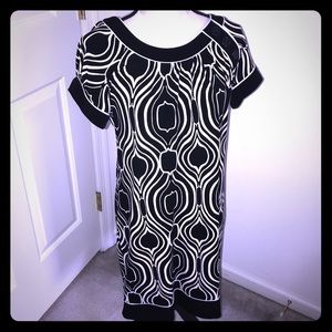 Carole Little Black and cream dress